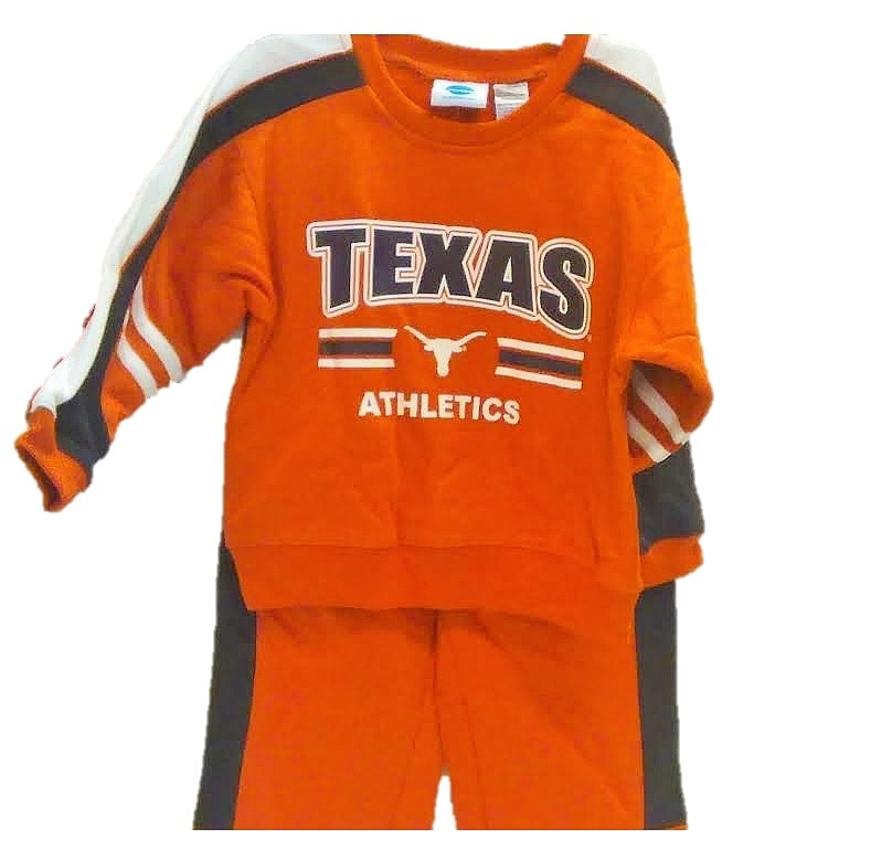 LONGHORNS: 2 PC SWEATSUIT- INFANT & YOUTH  LIMITED QUANTITIES AVAILABLE