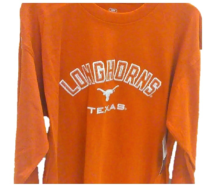 LONGHORNS: ORANGE EMBROIDERED L/S T-SHIRT- MENS SIZES: M/L/XL ONLY LIMITED QUANTITIES AVAILABLE