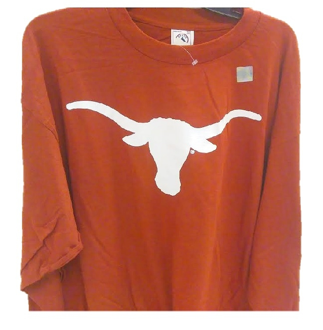 LONGHORNS: ORANGE L/S T-SHIRT LOGO- MENS SIZES: S/L/XL/XXL/XXX ONLY LIMITED QUANTITIES AVAILABLE