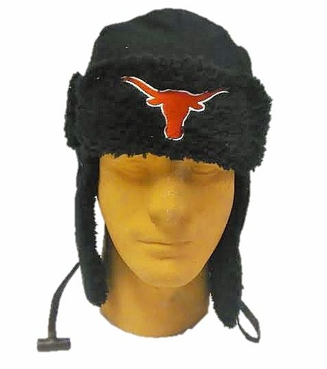 LONGHORNS: BLACK BOMBER HAT WITH SCHOOL LOGO LIMITED QUANTITIES AVAILABLE