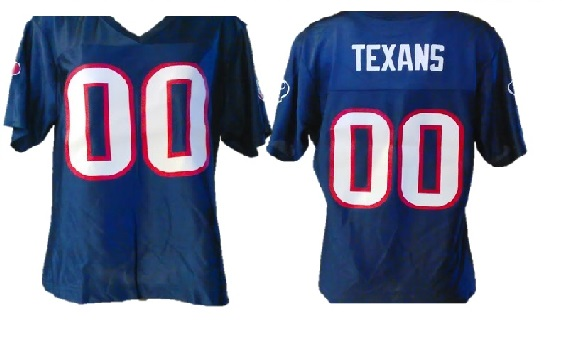 TEXANS: WOMAN'S jERSEY WITH LOGO ON BOTH SLEEVES LIMITED QUANTITIES AVAILABLE