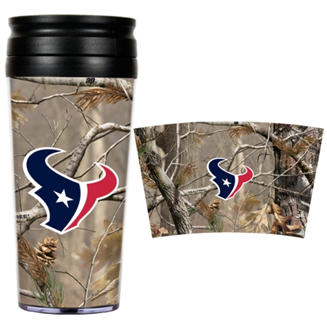 TEXANS: ACRYLIC CAMO TRAVEL TUMBLER 16 OZ LIMITED QUANTITIES AVAILABLE