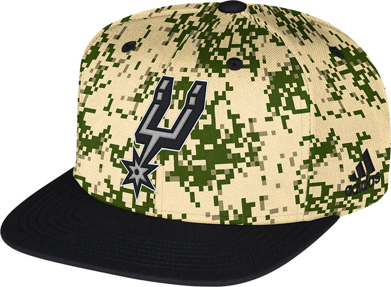 SPURS: CAP- DIGITAL CAMO W/SPURS LOGO ON FRONT- SNAPBACK- STYLE NU64Z- ONE SIZE FITS MOST