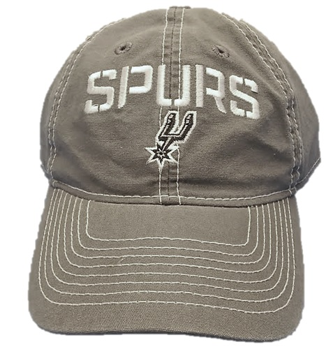 SPURS: CAP- SLOUCH-CHARCOAL GREY W/SPURS & LOGO ON FRONT- PULL THRU ADJUSTABLE- STYLE EZS26- ONE SIZE FITS MOST