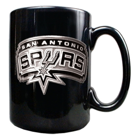 SPURS: COFEE MUG-CERAMIC- BLK- LIMITED QUANTITIES AVAILABLE
