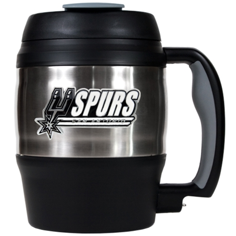 SPURS: TRAVEL MUG- MACHO- 52 OZ- LIMITED QUANTITIES AVAILABLE