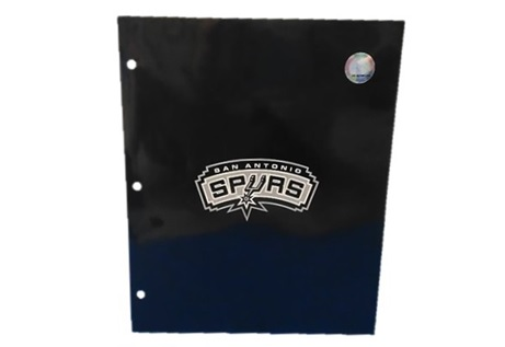 SPURS: FOLDER- 2 POCKET- SAN ANTONIO SPURS W/LOGO- LIMITED QUANTITIES AVAILABLE