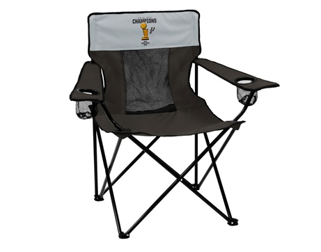 SPURS: CHAIR-BLK/GREY- SPURS 2014 CHAMPIONS-ELITE SERIES FOLDING TAILGATE CHAIR