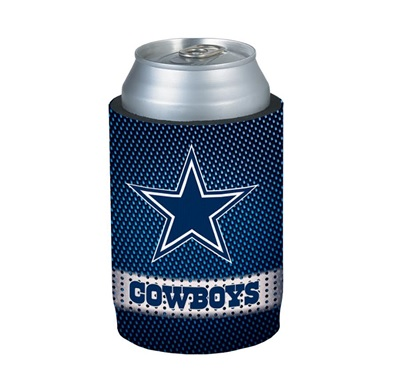 COWBOYS: KOOZIE- NYLON MESH W/ LOGO AND COWBOYS ON FRONT