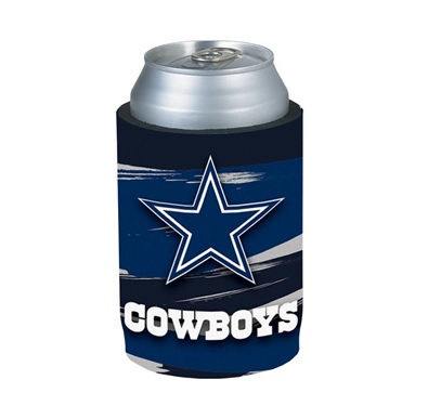 COWBOYS: KOOZIE- TEAM BRUSH W/LOGO & COWBOYS ON FRONT