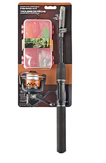 READY 2 FISH TELESCOPIC MUTLI-SPECIE COMPLETE, PORTABLE FISHING KIT OPEN REEL, 4FT 6 IN ROD, 45 PIECE PRE LOADED TACKLE BOX, 6 PER CASE