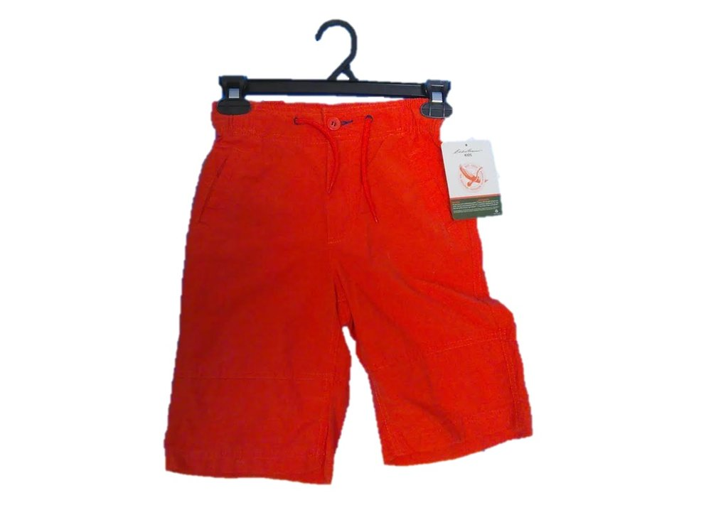 BOYS WALKING SHORTS: EDDIE BAUER:  SIZES S-XL COLOR: AUTUMN LEAF (ORANGE)