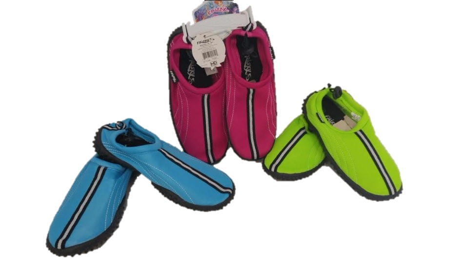 AQUA : GIRLS : FRISKY : sTYLE #F3267, COLORS : BLUE, HOT PINK, & NEON GREEN , 12 PER CASE, MUSICAL RUN : SIZES 11-4