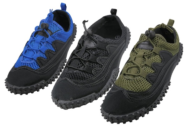 AQUA : TIE-UPS : MENS : STYLE:  M1188 : COLORS : BLUE, BLACK, DARK GREEN : SIZES: 7-13 MUSICAL RUN