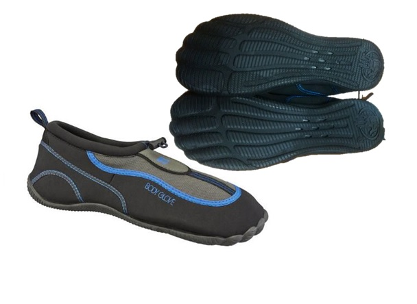 AQUA : MENS BODY GLOVE : STYLE : RIVER BREAKER : COLOR : BLK/ROYAL BLUE : sIZES : 7-13