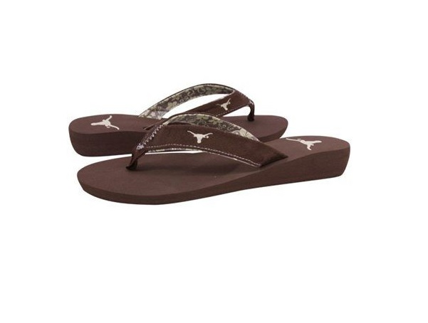 longhorns: ladies flip flops sizes: 5/6, 7/8, & 9/10 6 per case