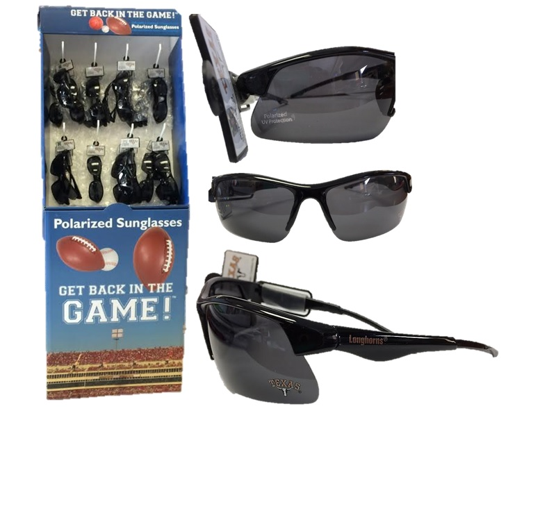 LONGHORNS: SUNGLASSES- POLARIZED IN DISPLAY 48 PER CASE