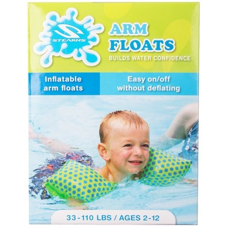 KIDS ARM FLOATS (INFLATABLE ARM FLOATS) BOYS AGES 2-12, 33-110 LBS