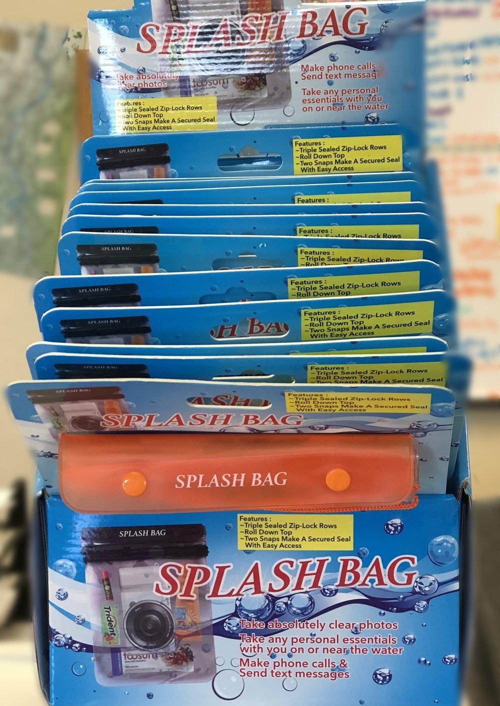 LARGE SPLASH BAG, 12 PER DISPLAY