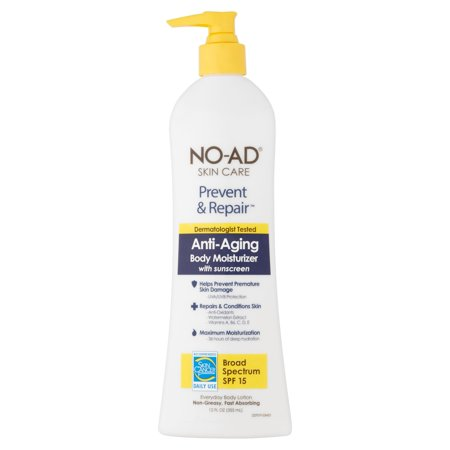 "NO-AD SKIN CARE, PREVENT & REPAIR ""ANTI-AGING"" SPF 15, 12FL OZ."