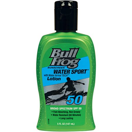BULL FROG: SUNSCREEN WATER SPORT LOTION SPF 50, 5FL OZ.