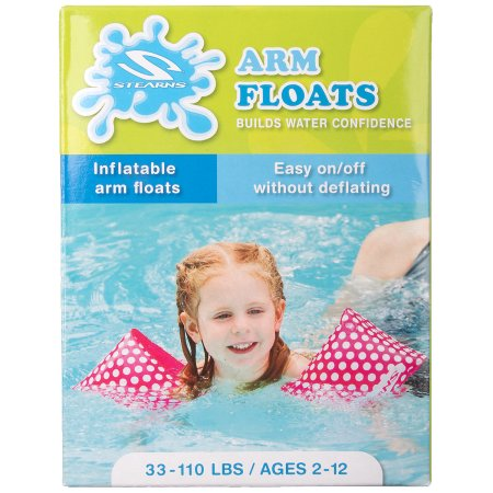 KIDS ARM FLOATS (INFLATABLE ARM FLOATS) (sterns) GIRLS AGES 2-12 , 333-110 LBS