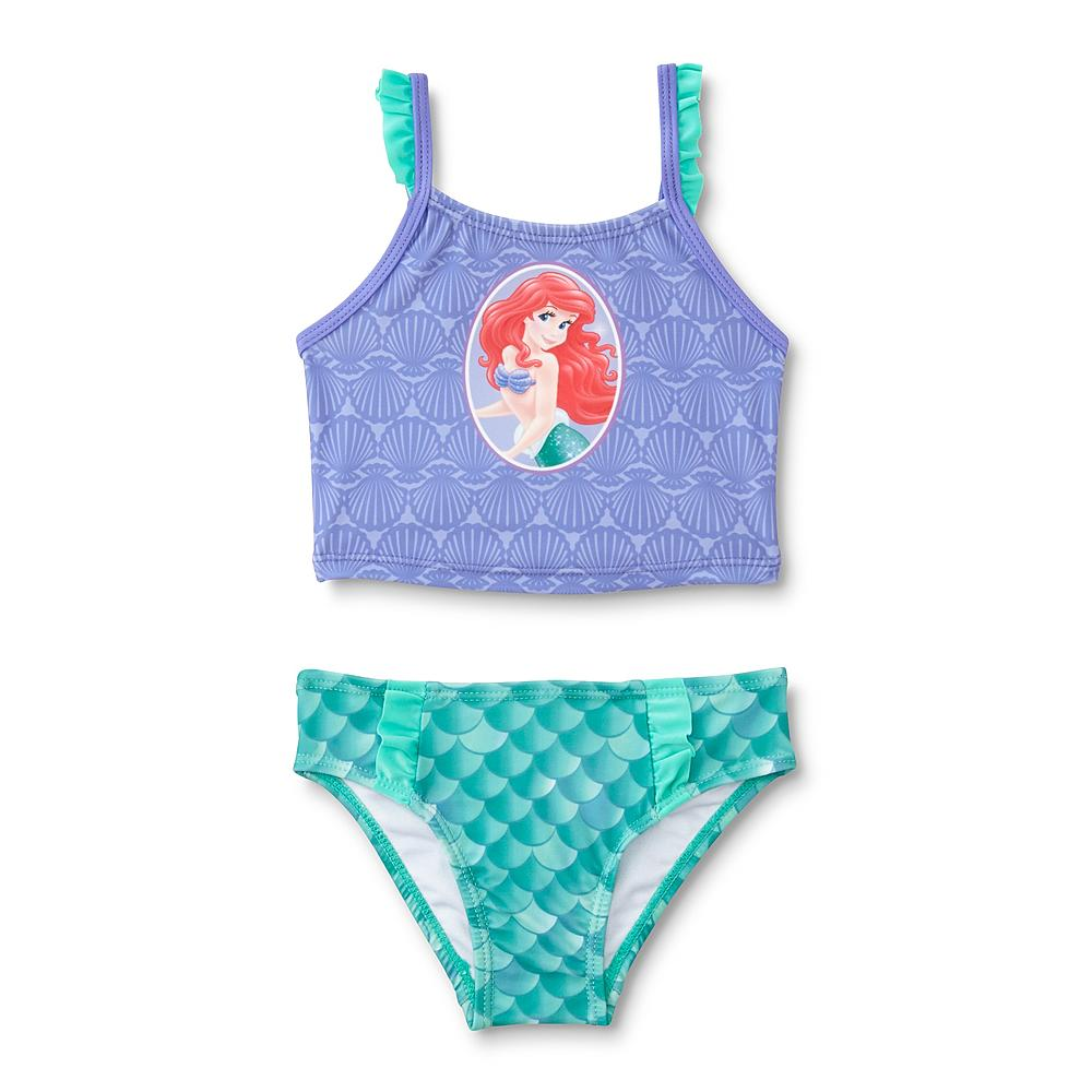 DISNEY PRINCESS, LITTLE MERMAID, 2 PC SET  UPF 50+ EXCELLENT UV PROTECTION, AVAILABLE IN INFANTS AND TODDLERS.