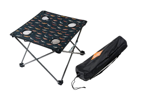 Bohnam Folding Table with 4 cup holders comes in bag
