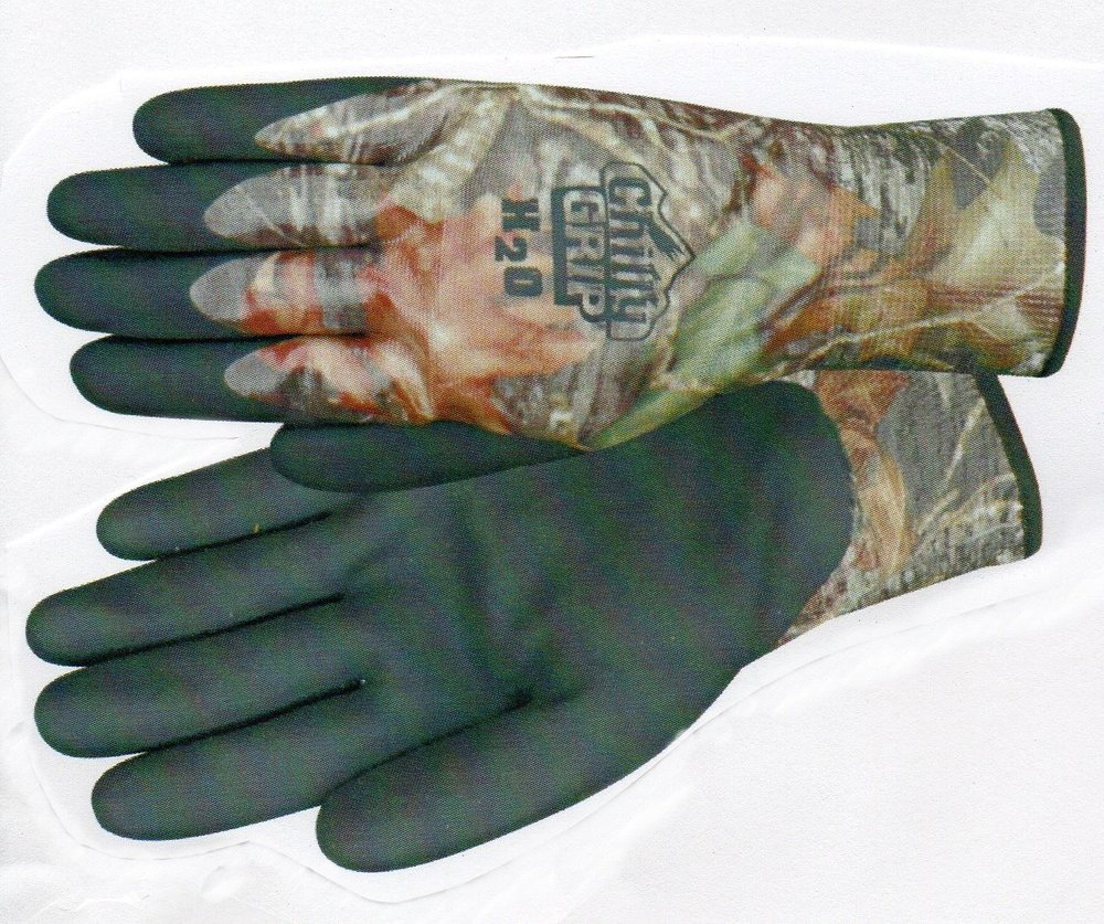camo chilly grip h2o gloves