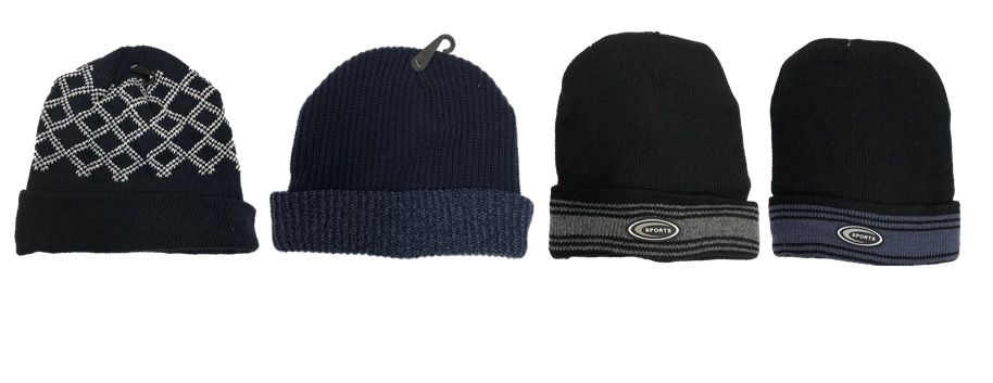 assorted men's knit hats