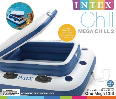"Intex : mega chill 2 : 38""x48"" : Item # 56821 (3/case)"