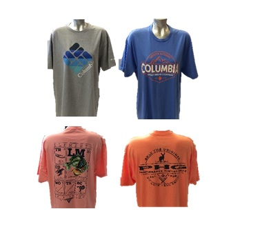 Shirt : Columbia T-shirt Short Sleeve Asst. colors, sizes, and styles