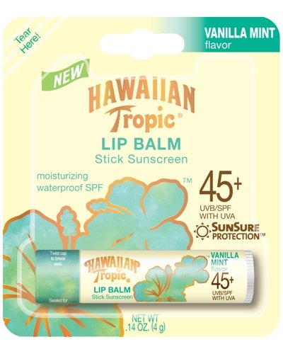 Hawaiian Tropic spf 45 Lip Balm Vanilla Mint