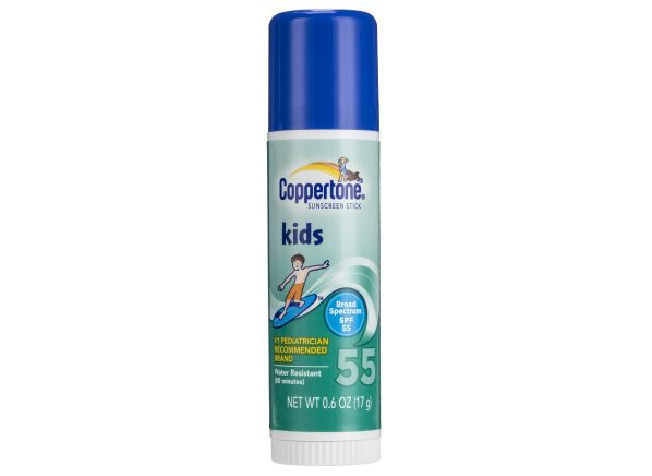 Coppertone spf 55 kids stick