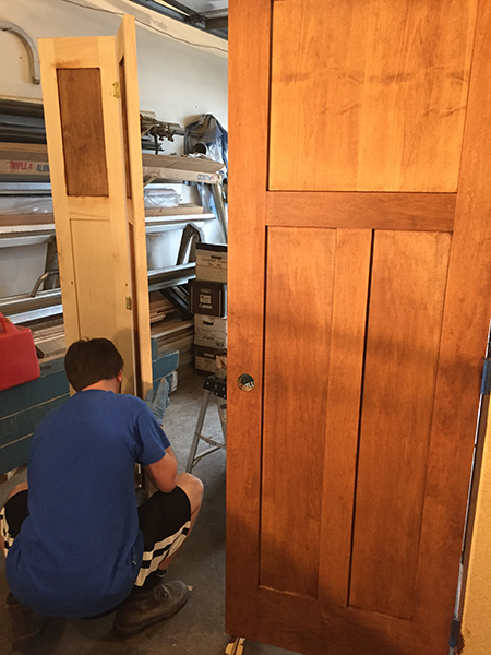 staining and varnishing millwork