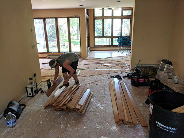 removing original wood floor.