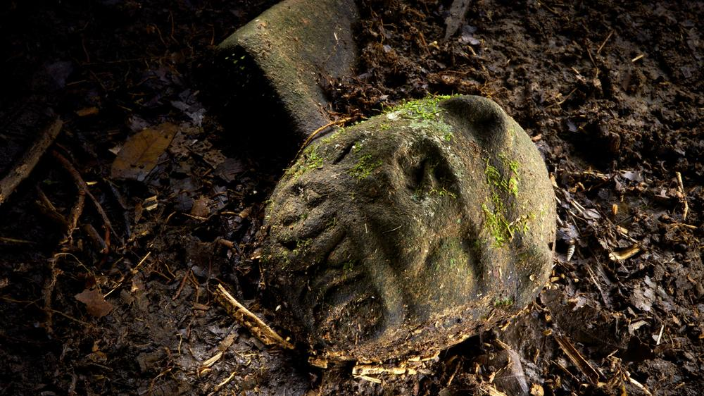A Were-Jaguar effigy discovered along with the Lost City inside of Honduras. via National Geographic