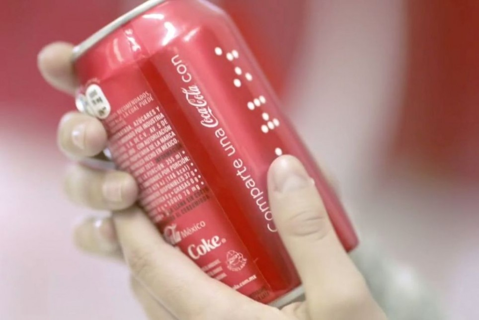 Braille Coca Cola