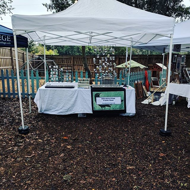 Come out before the rain! Glam Craft show at the First Magnitude Brewery, Gainesville, FL. #firstmagnitudebrewery #glamcraftshow #greengrackle
