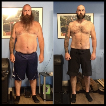Sean lost almost 60lbs & 10 inches from his waist!