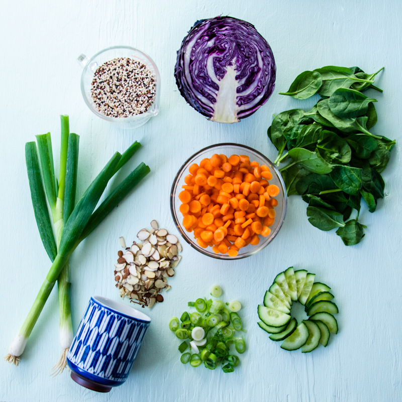 Asian Quinoa Salad GOLDWIRE