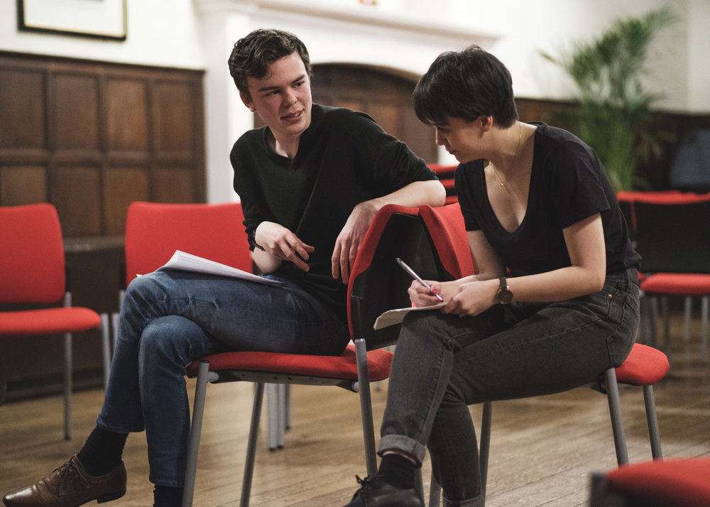 Lady Macbeth (Lorna Jinks & Josh Caldicott) finding common ground.