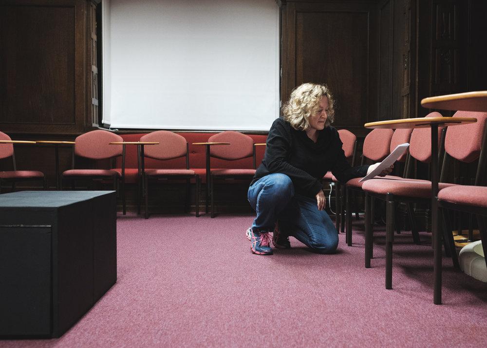 Hermione (Kat Alix-Gaudreau) takes a break from her pedestal.