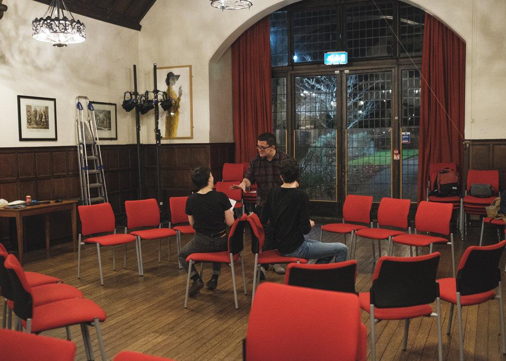 The Director (Juliano Zaffino) directs Lady Macbeth (Lorna Jinks & Josh Caldicott).