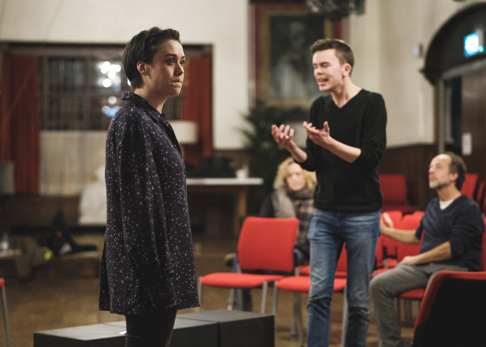 Lorna Jinks and Joshua Caldicott in 'Are You A Man?'.