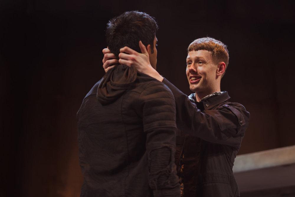 © Topher McGrillis, RSC (Josh Finan as Benvolio + Bally Gill as Romeo)