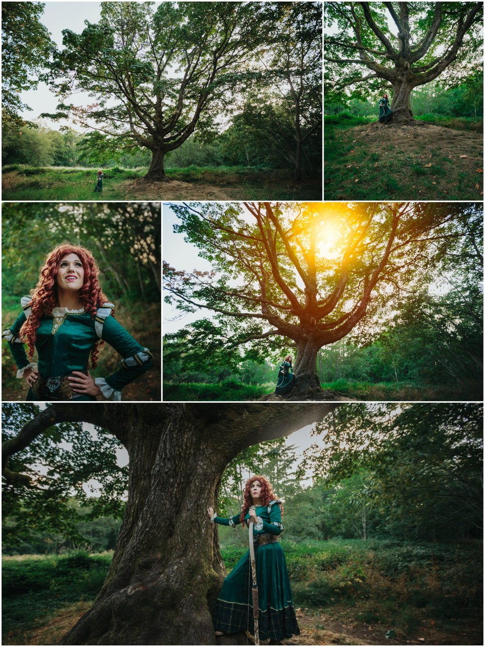 Brave's Merida with cosplay costume design and model Fairy Skye | Analeigh Cosplay. Photography by Mimsical Photography.