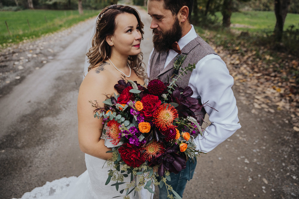 Fall Fraser River Lodge Rustic Wedding - Purple, Plaid, Wood, Red (107 of 225).JPG