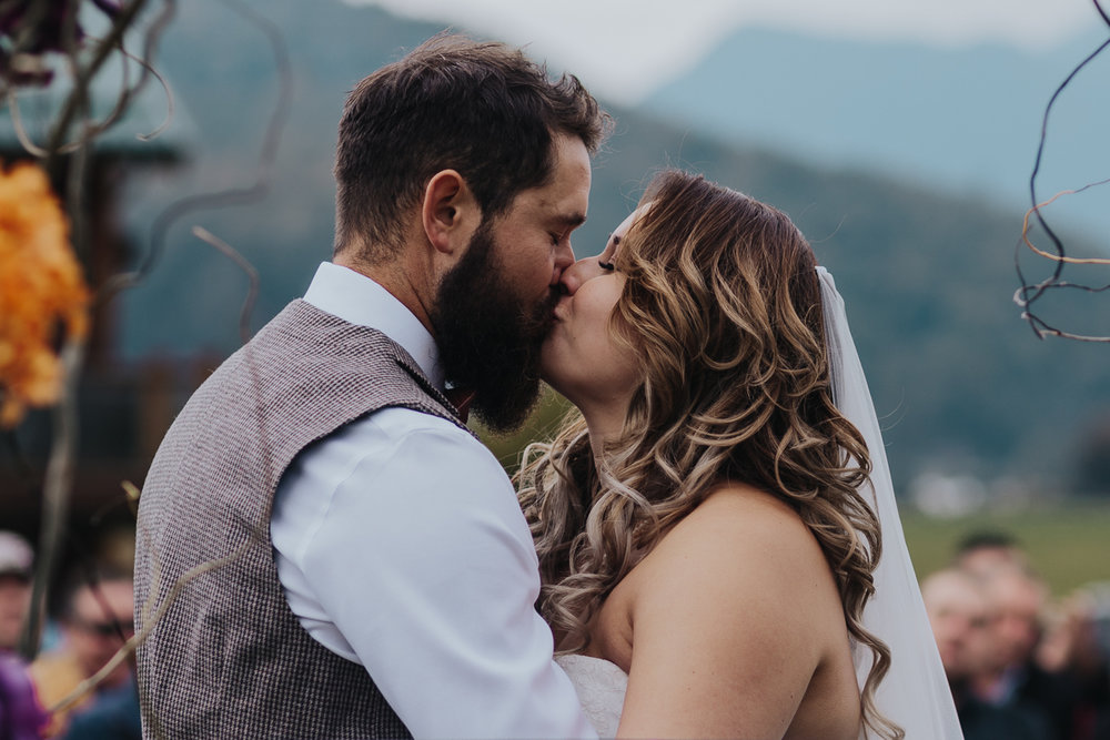 Fall Fraser River Lodge Rustic Wedding - Purple, Plaid, Wood, Red (137 of 225).JPG