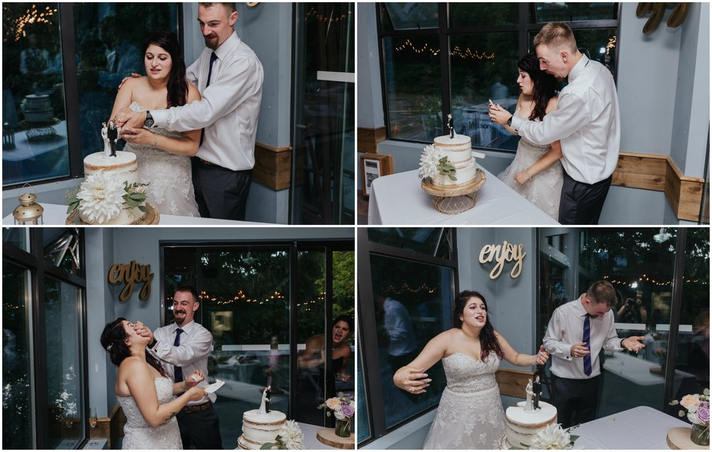 Camp Howdy Rustic Cabin Wedding cake.jpg
